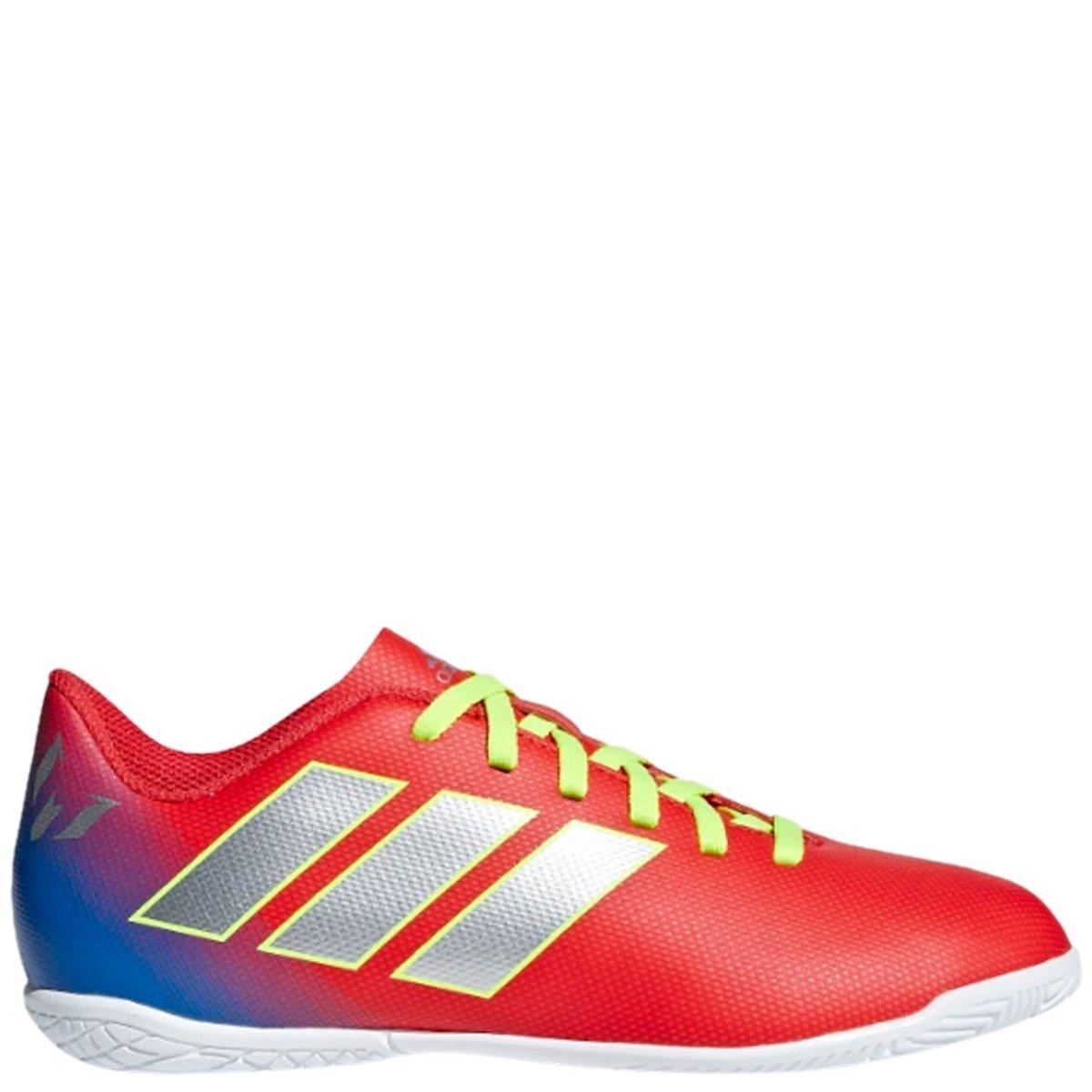 Chuteira Infantil Futsal Adidas Nemeziz Messi 18.4 JR - Vermelho Azul  7393e61862b38