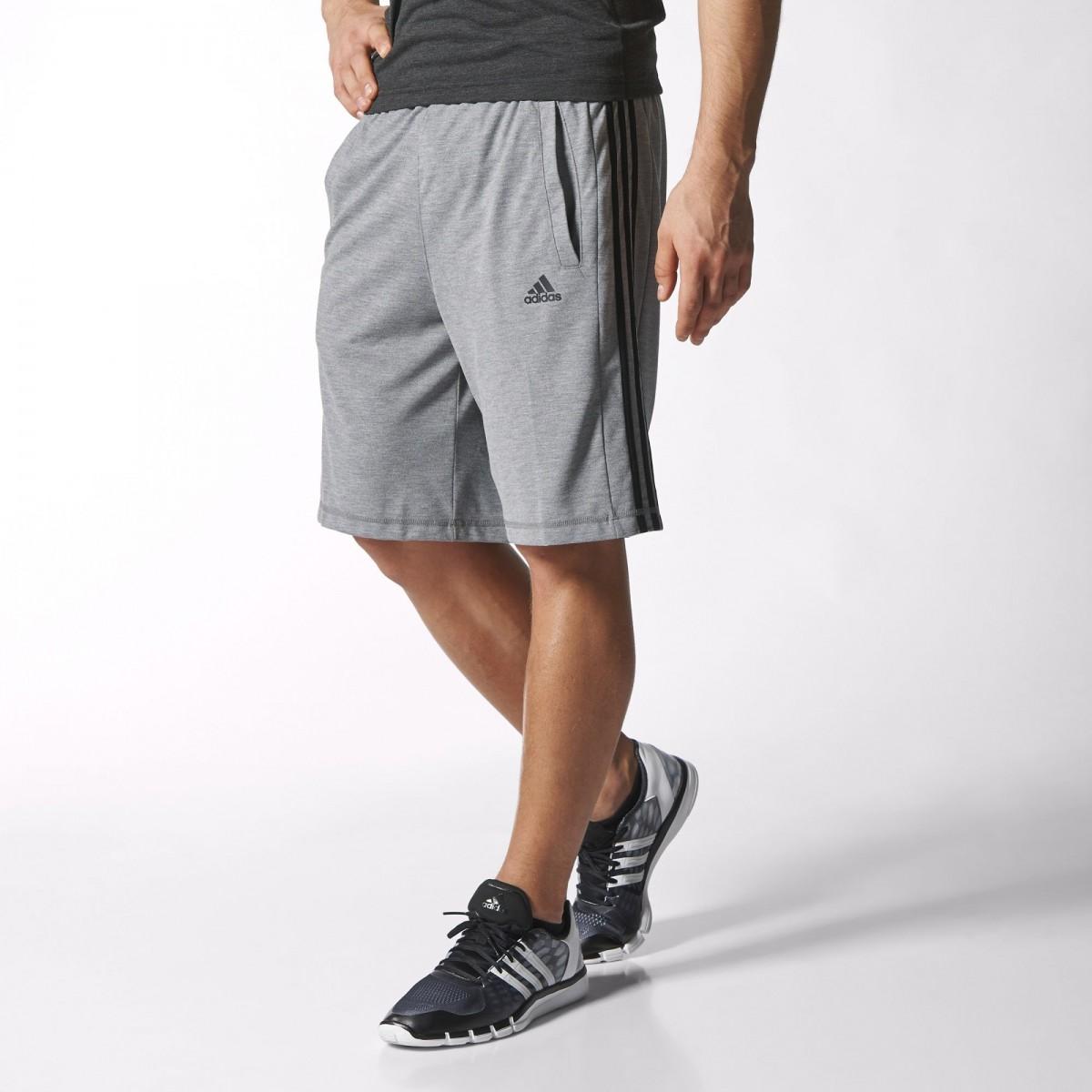 b5946b60232 Bizz Store - Shorts Masculino Adidas Ess Moletom Cinza