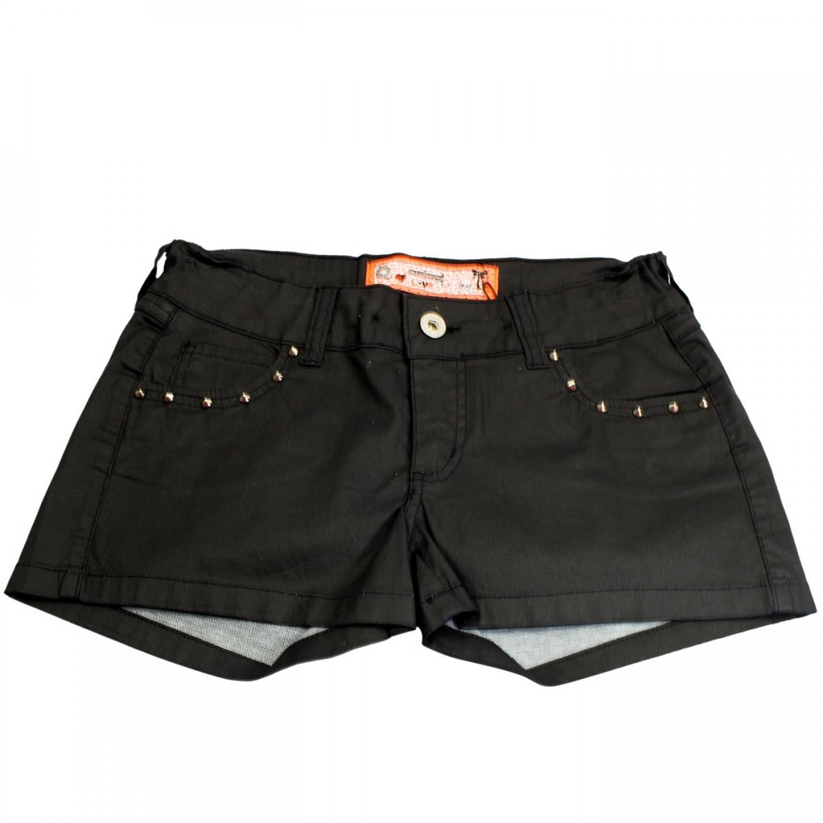 251986a4e Bizz Store - Shorts Juvenil Feminino Colcci Fun Indigo Preto