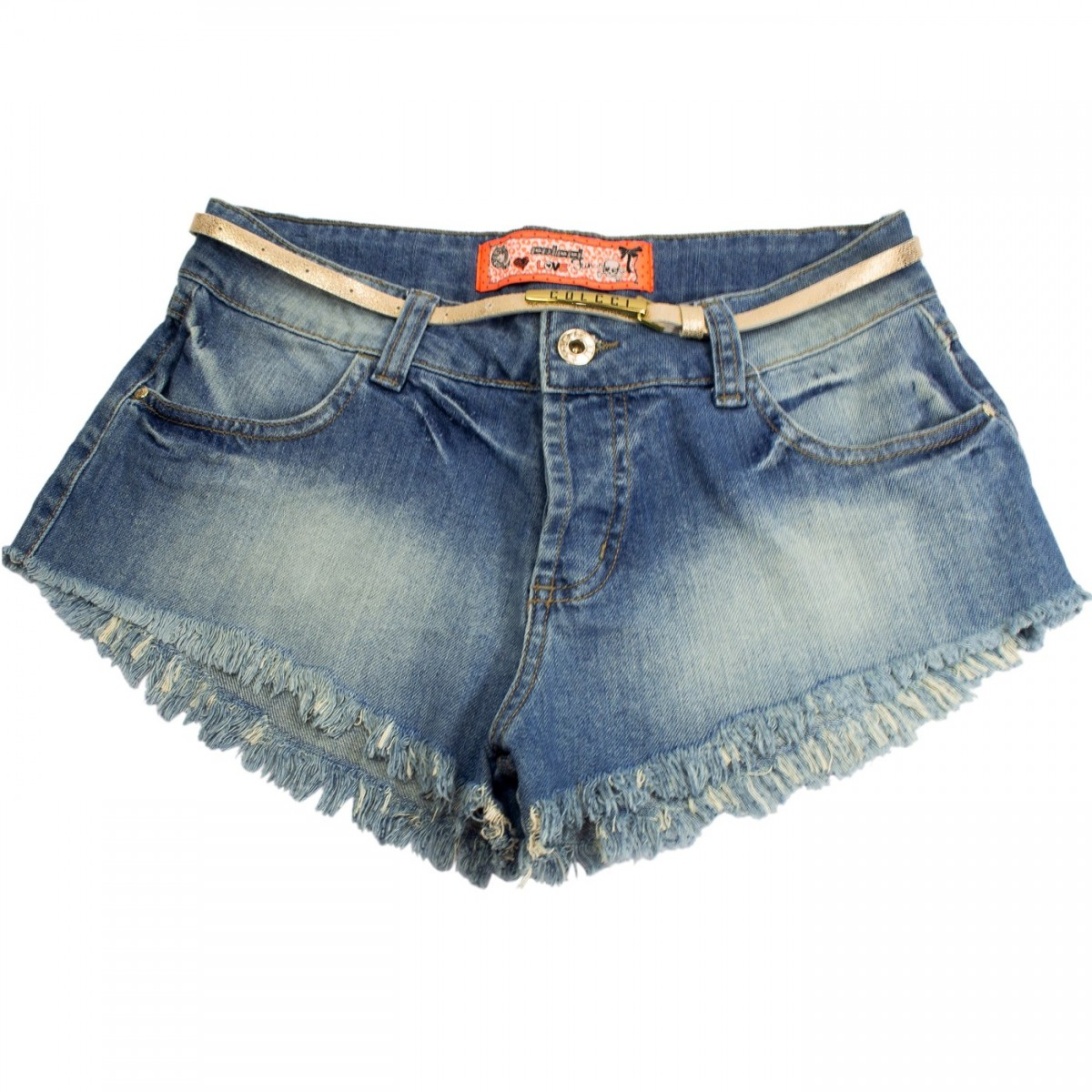 e6a053d5b Bizz Store - Shorts Jeans Juvenil Feminino Colcci Fun Indigo