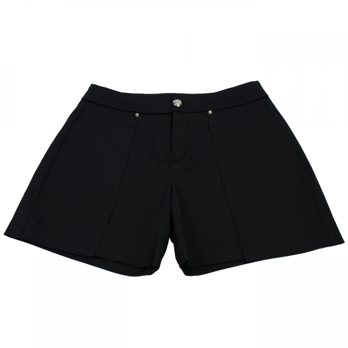 be2483f123f Bizz Store - Shorts Feminino Acostamento Preto Social