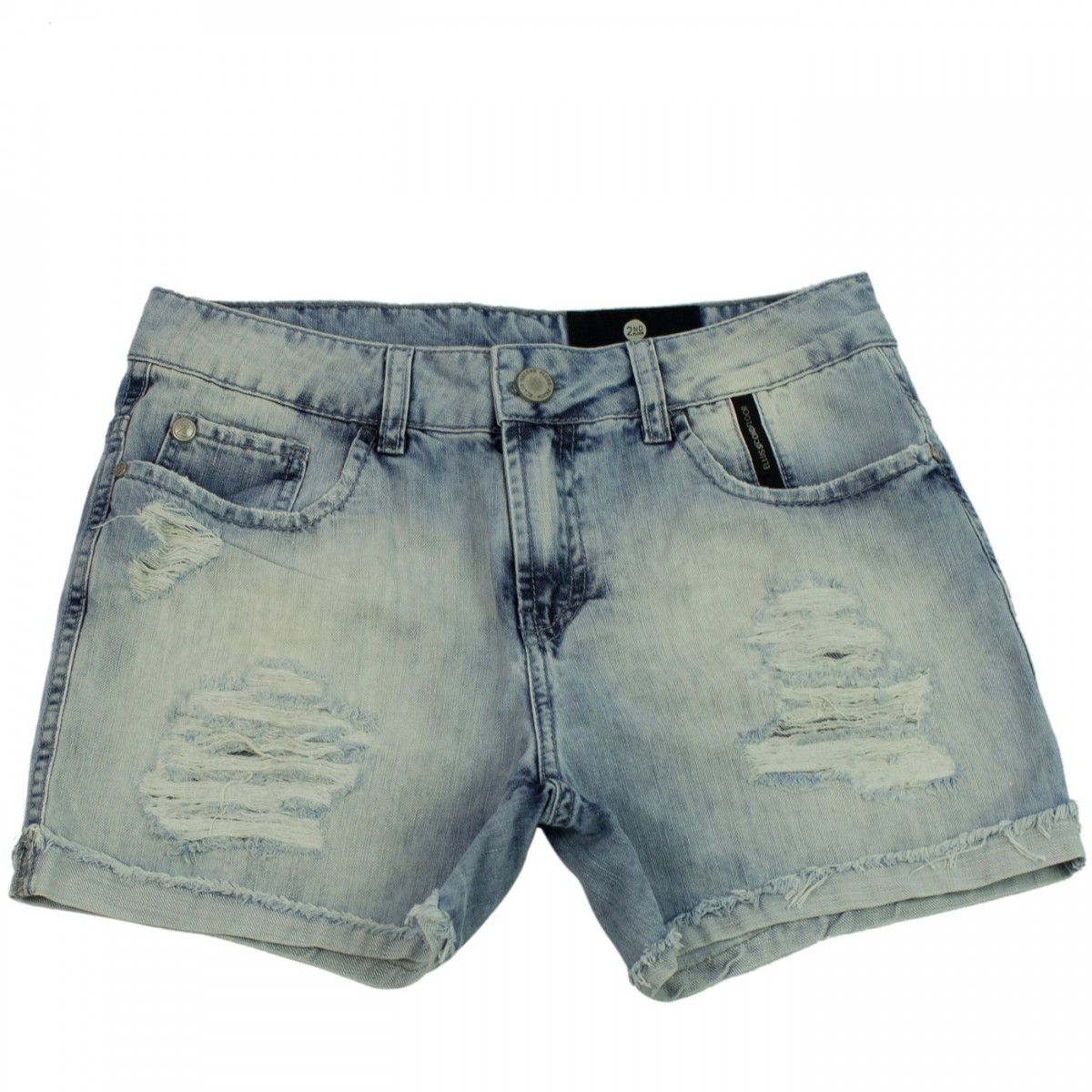 994292935 Imagem - Shorts Jeans Feminino Ellus Second Floor Destroyer 19sf451 - 052760