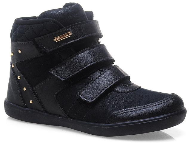 2096976b7b Bizz Store - Tênis Sneaker Infantil Feminino Pampili Flat Preto