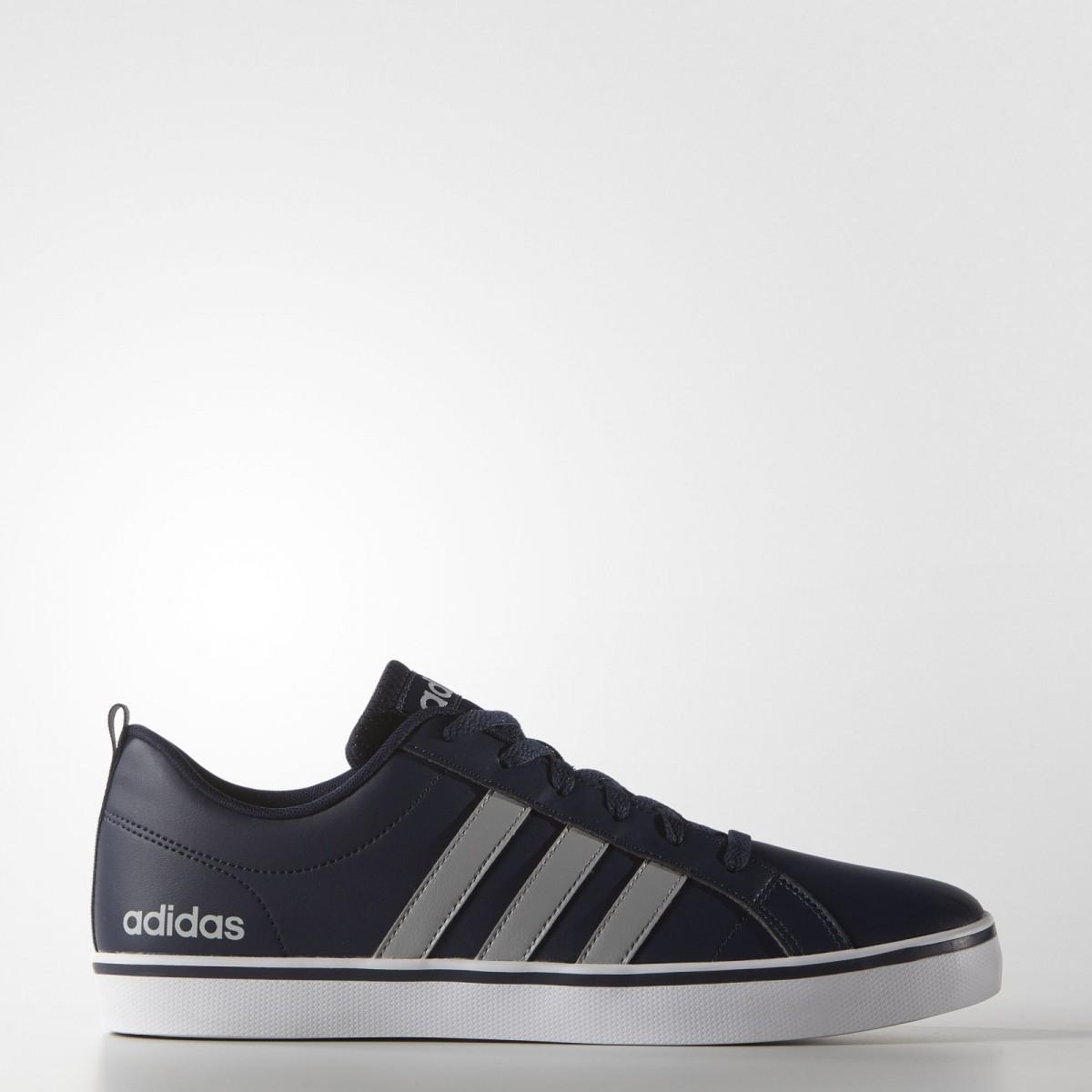 6dcb9788b67 Bizz Store - Tênis Masculino Adidas Pace VS Azul Cinza Couro