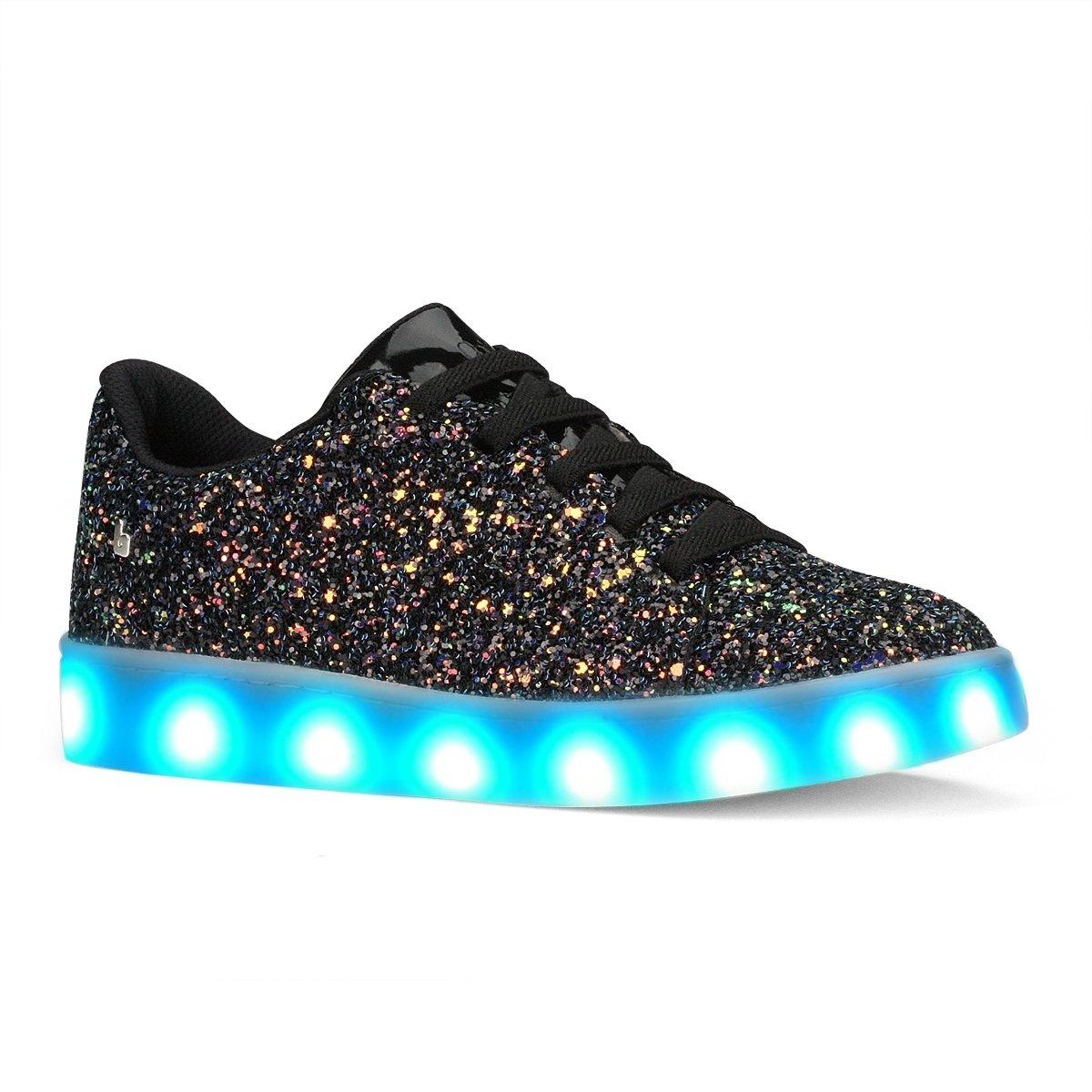 aa77c6440 Bizz Store - Tênis De LED Infantil Bibi Clique-se Colors Glitter