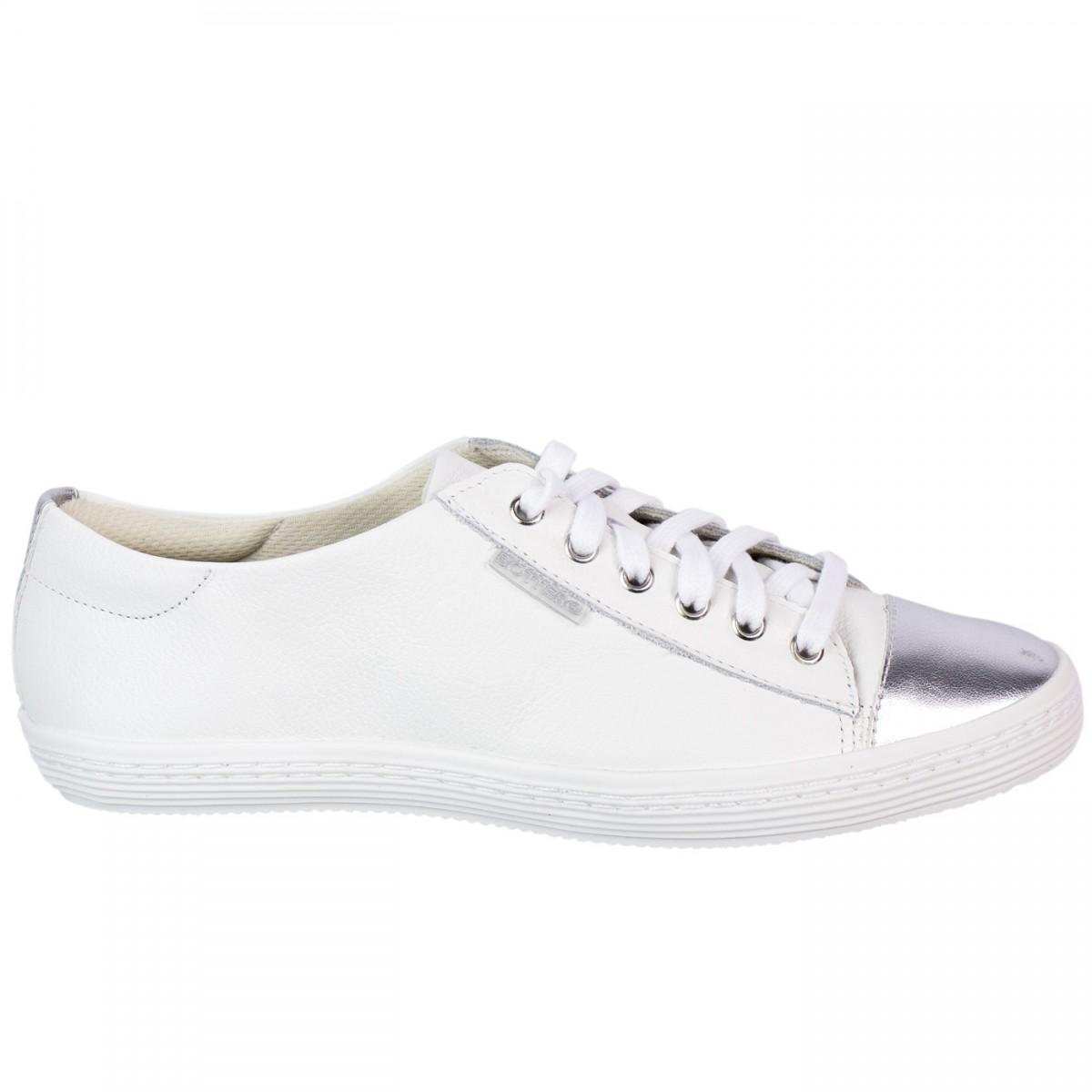 c28b823fa02 Bizz Store - Tênis Feminino Bottero Couro Floater Branco Jeans