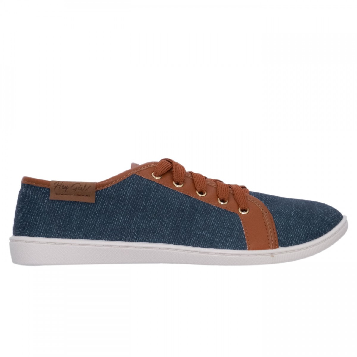 86935616487 Bizz Store - Tênis Feminino Moleca Tecido Lona Casual Jeans