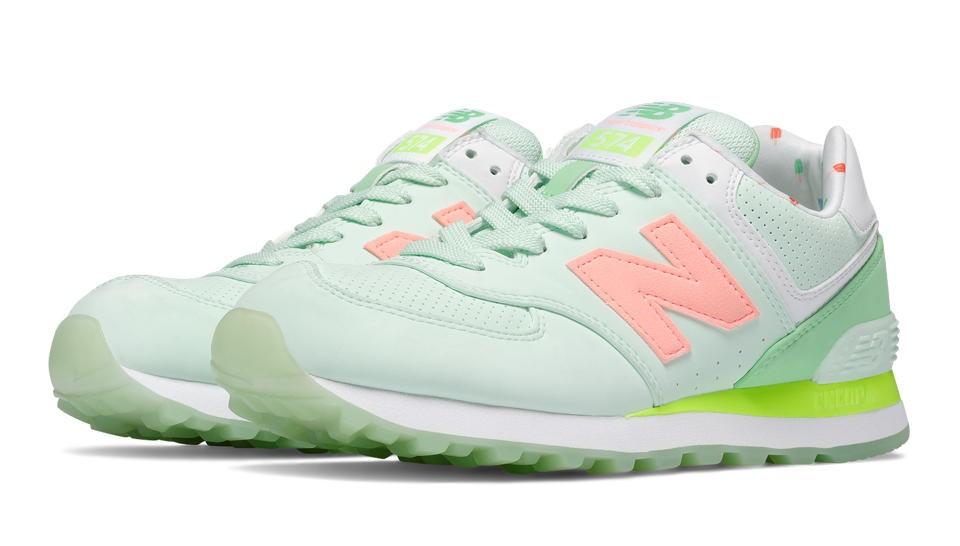 new balance verde feminino