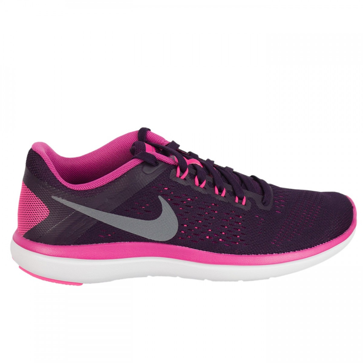 Bizz Store - Tênis Feminino Nike Flex 2016 Corrida Roxo Rosa 166e3445a3