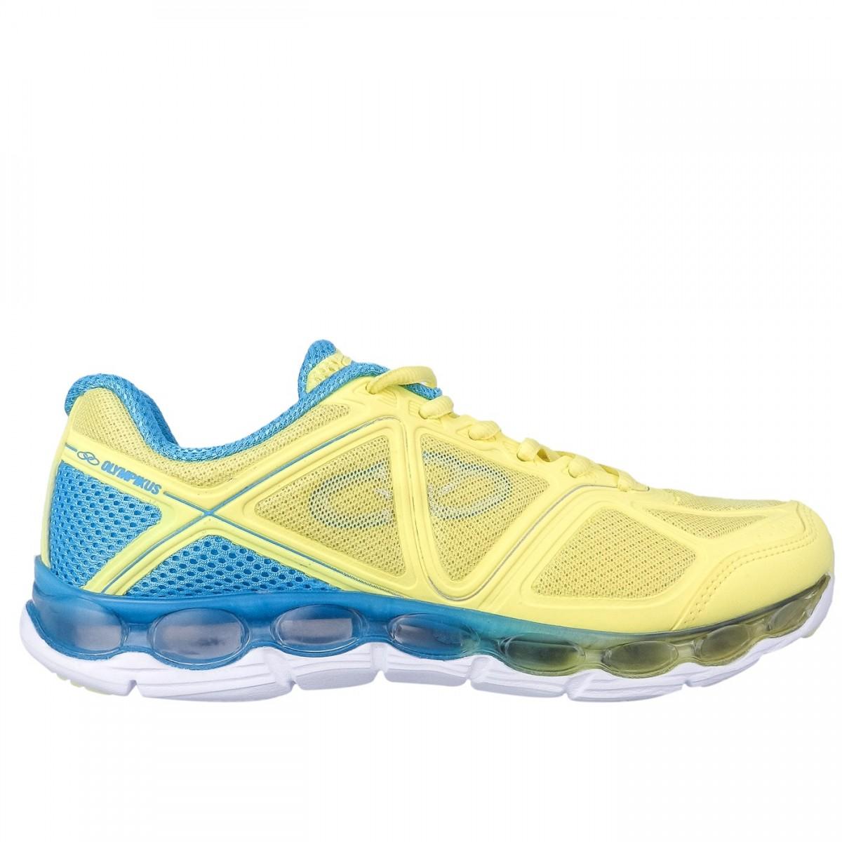 Bizz Store - Tênis Feminino Olympikus Oxide Amarelo Esportivo f56a0ec7ab21b