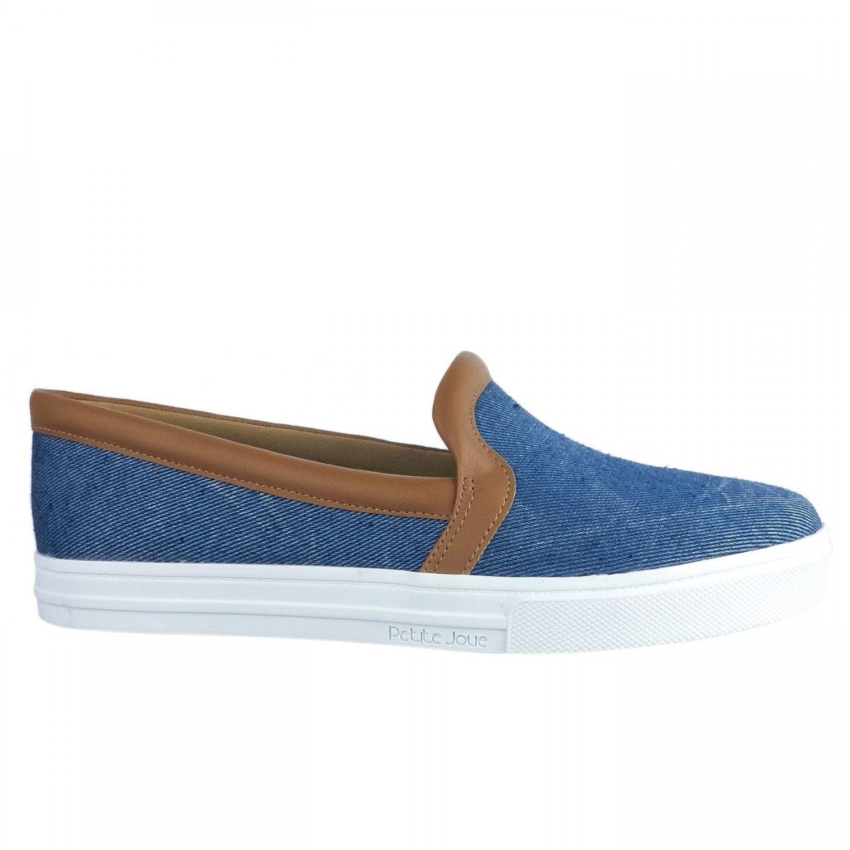 26c6b890e6f Bizz Store - Tênis Feminino Petite Jolie Jeans Azul Sem Cadarço