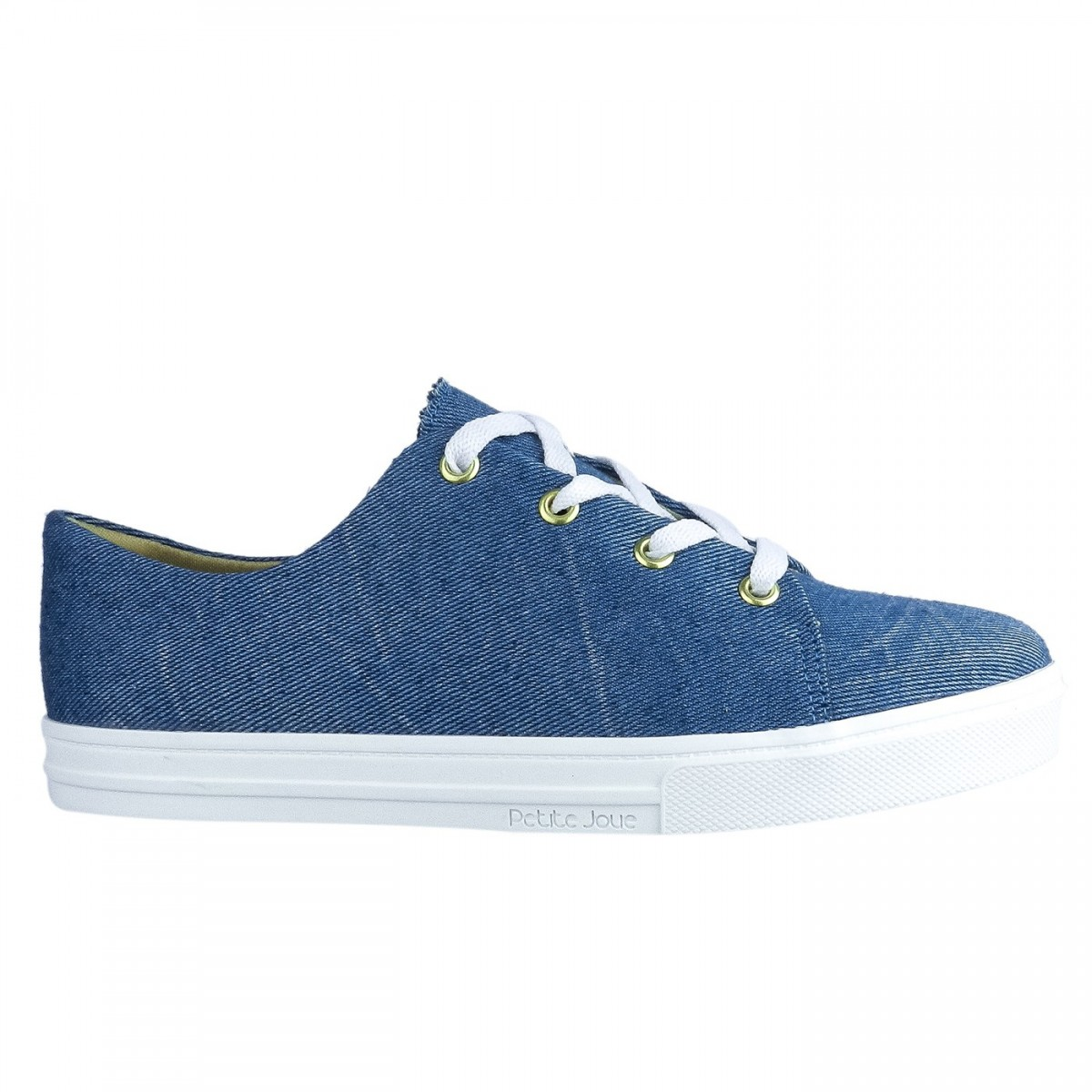 f92bb4ed5f3 Bizz Store - Tênis Feminino Petite Jolie Jeans Tecido Azul