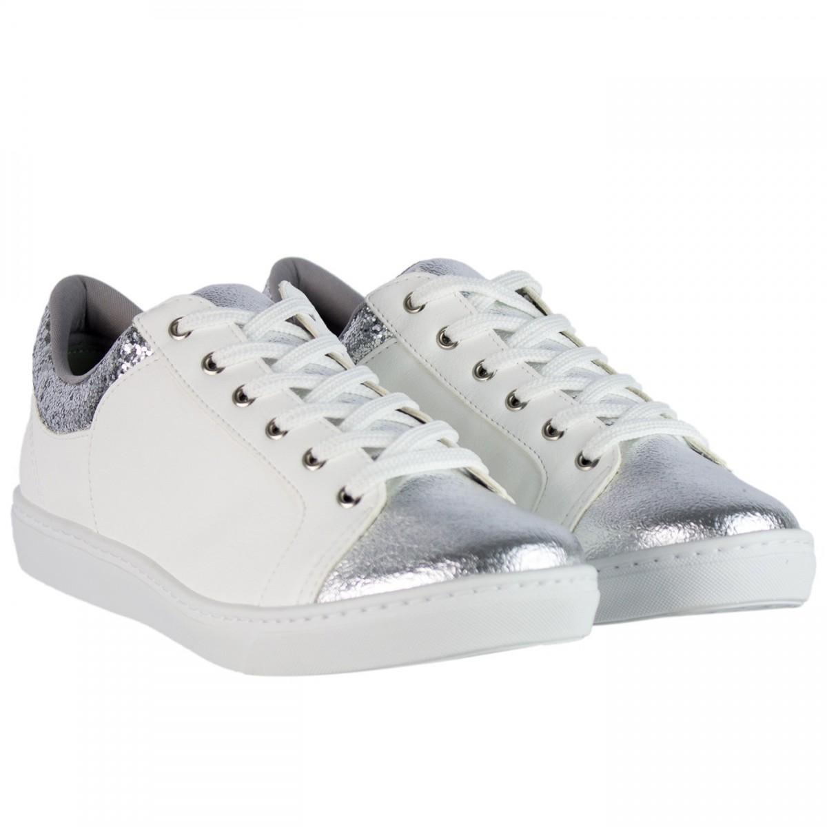 4aef24e78 Bizz Store - Tênis Feminino Via Marte Branco Couro Sintético Glitter