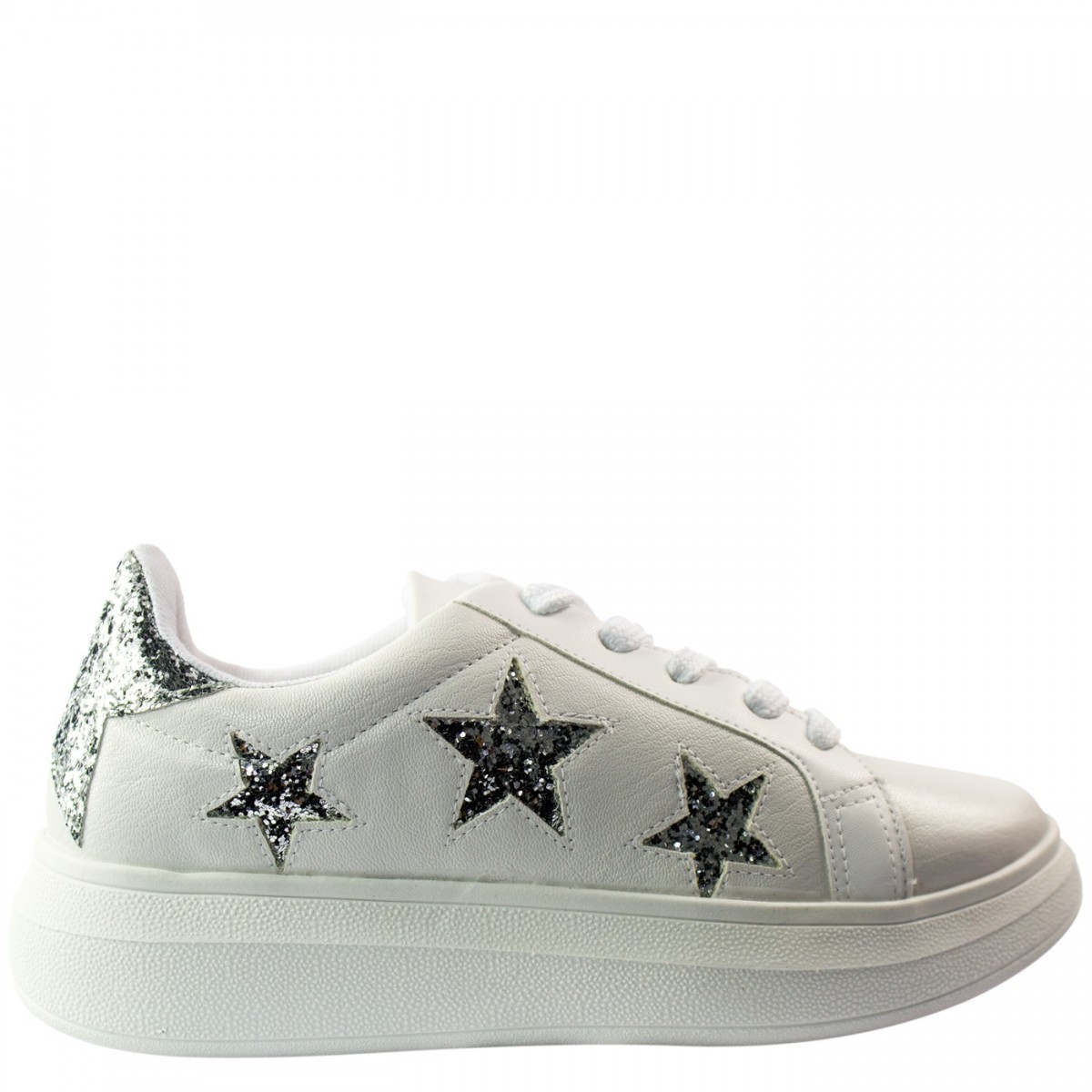 9385d1960d6 Bizz Store - Tênis Feminino Vizzano Estrelas Glitter Branco