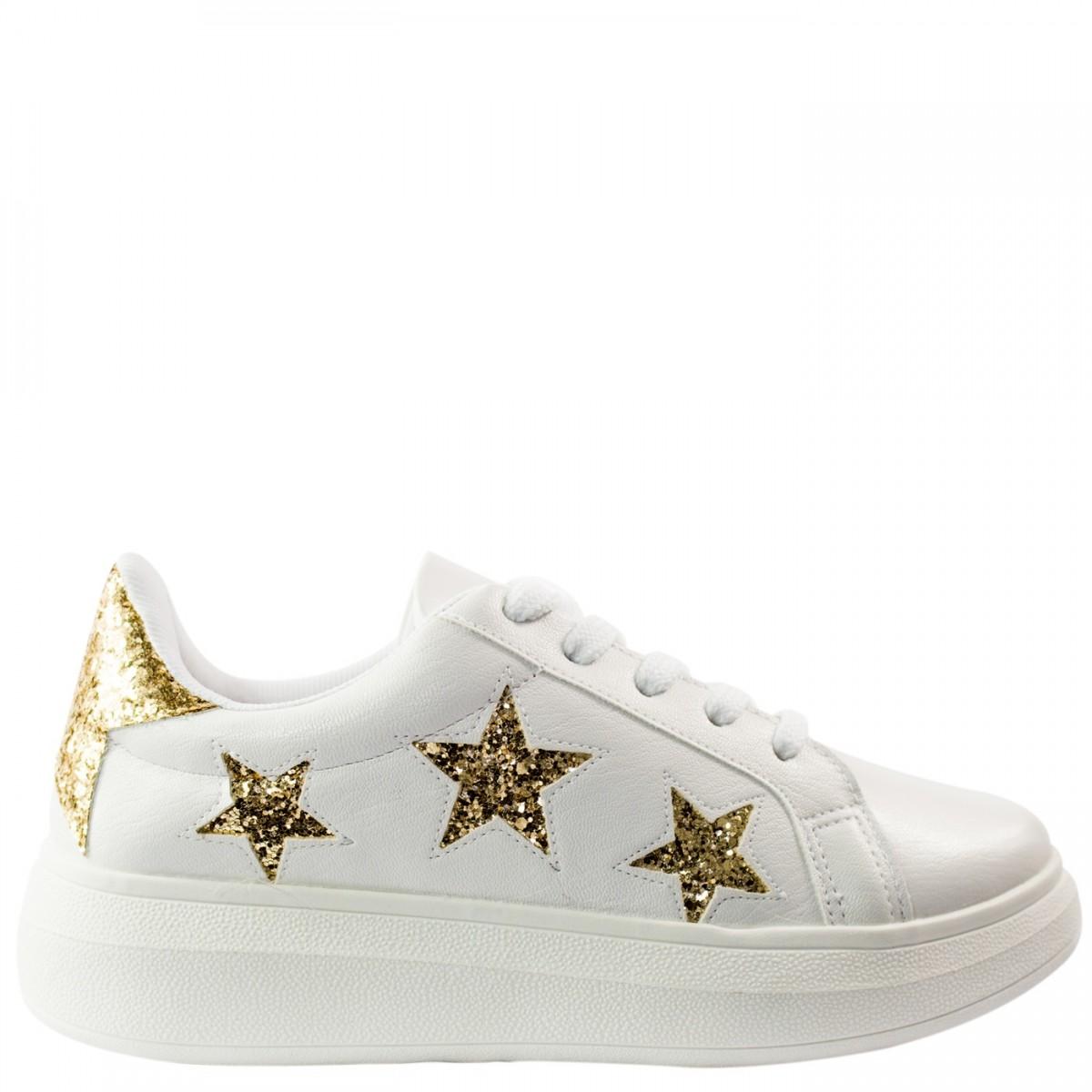 eaac96f32bf Bizz Store - Tênis Feminino Vizzano Estrelas Glitter Branco