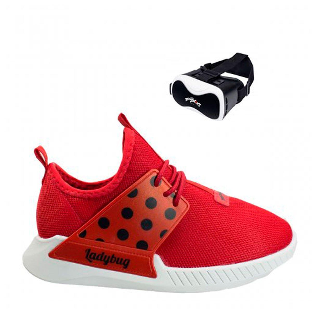 Bizz Store - Tênis Grendene Ladybug VR Mania Com Óculos b0aa096e2a8