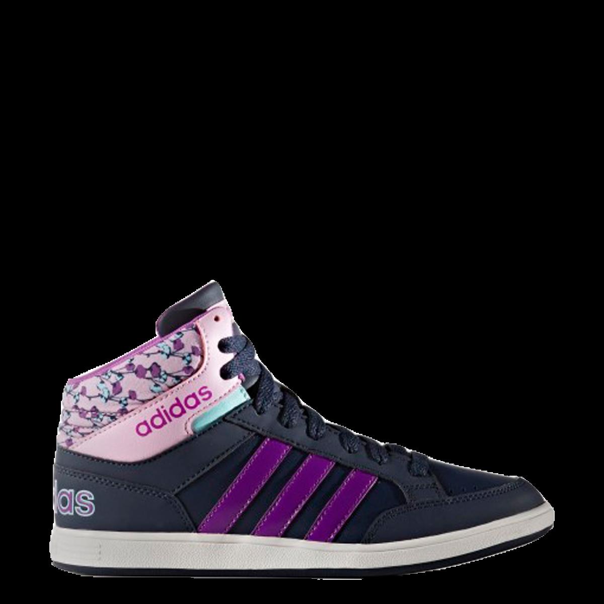0b0e531aee8 Bizz Store - Tênis Infantil Menina Adidas Hoops Mid Cano Médio
