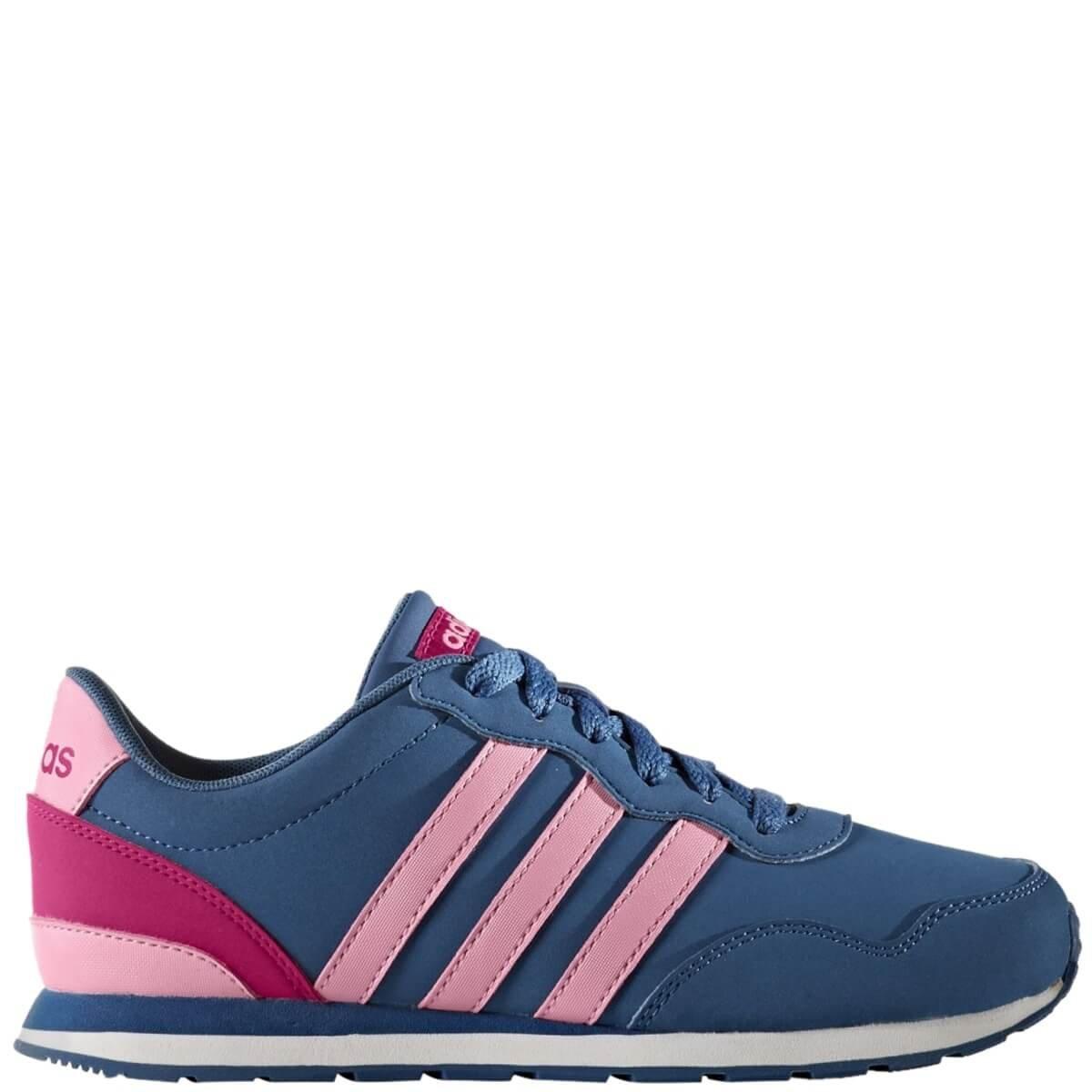 c7859ad877 Bizz Store - Tênis Infantil Feminino Adidas V Jog K Azul