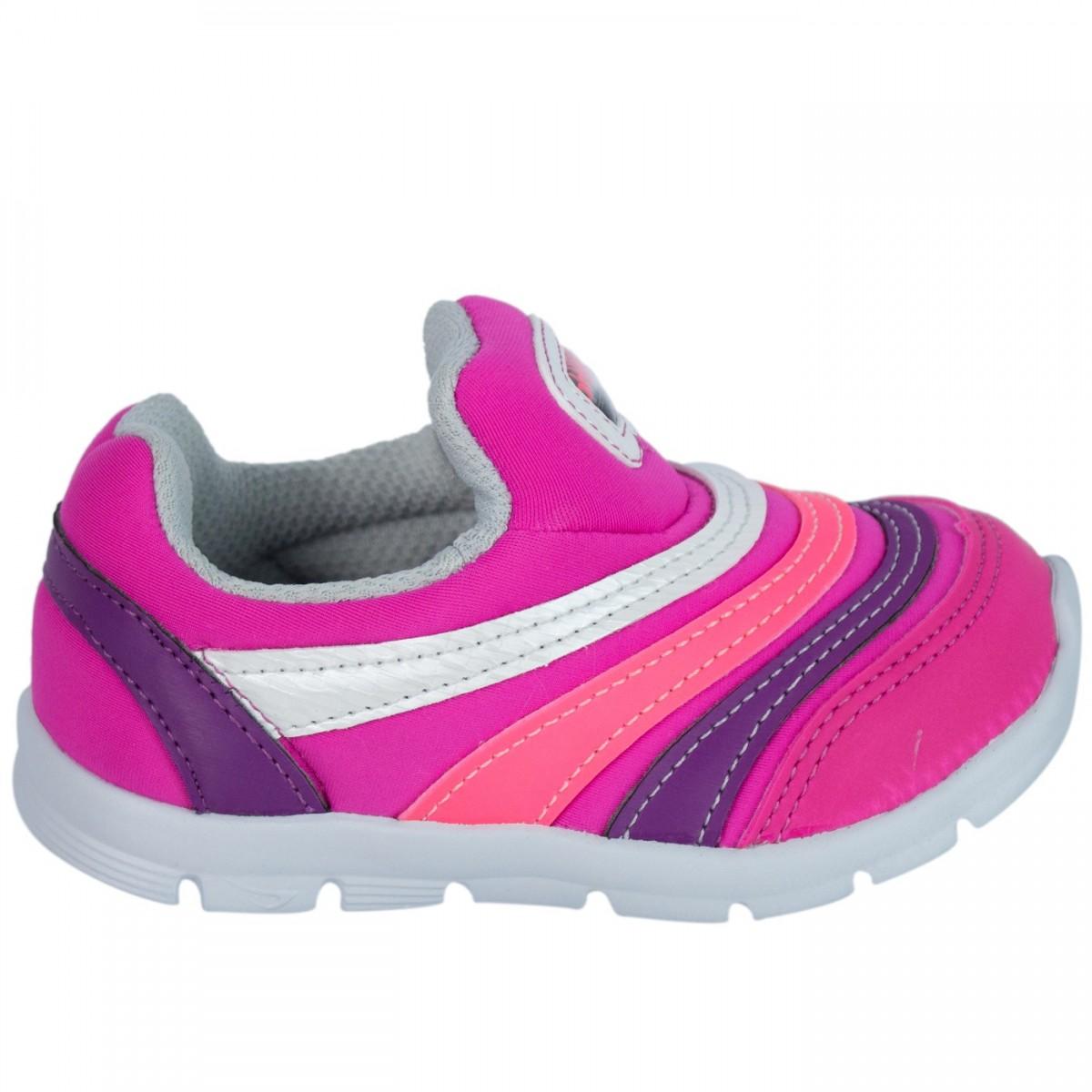 827c23b36b0 Bizz Store - Tênis Infantil Feminino Ortopé EVA Baby Pink Branco