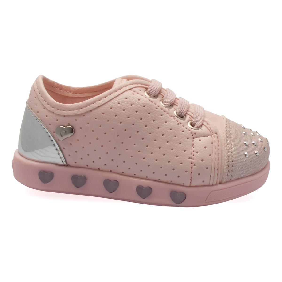 8d6684ca5 Bizz Store - Tênis Infantil Menina Pampili Sneaker Com Luzinha