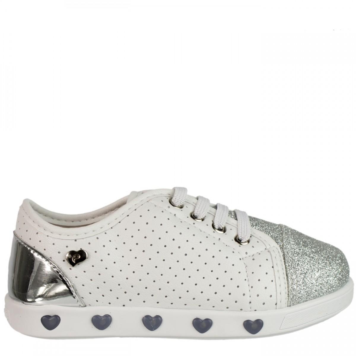 d5e8014c56 Bizz Store - Tênis Infantil Menina Pampili Sneaker Com Luzinha