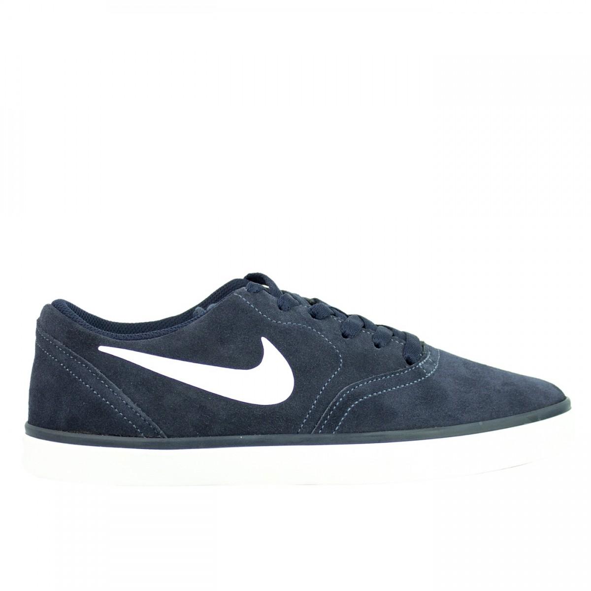Bizz Store Tênis Masculino Nike SB Check Couro Nobuck Nobuck Nobuck Marinho 33c377