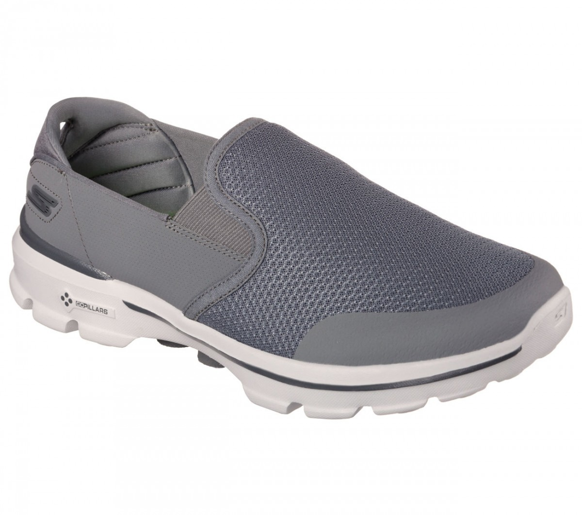 Bizz Store - Tênis Masculino Skechers GO Walk 3 Charge Preto 9845aa869620d