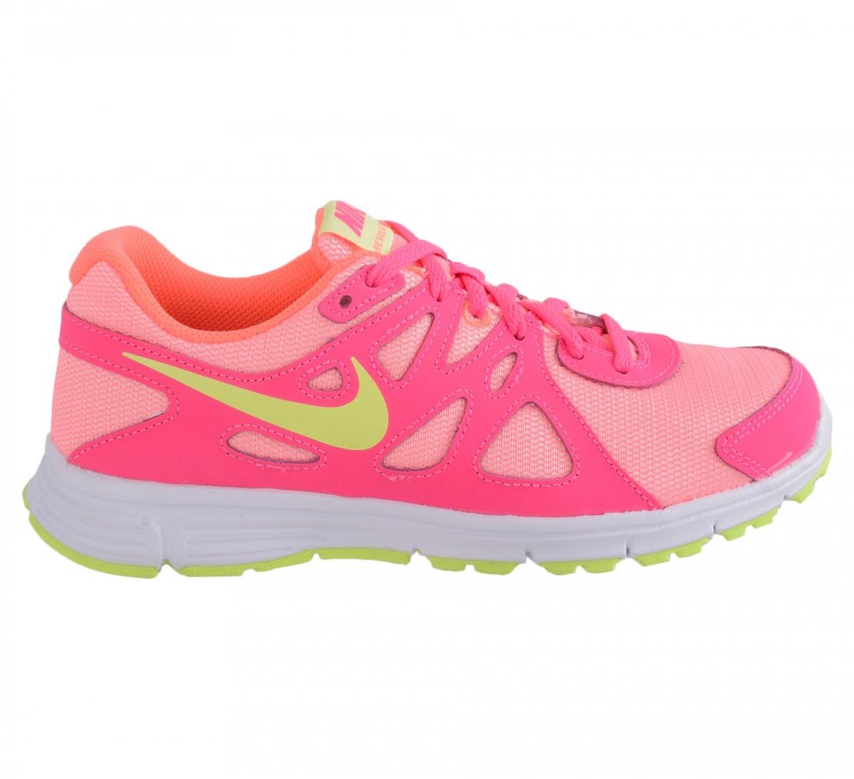 95aa32e8e Tênis Nike 555090 Revolution 2 GS - Rosa verde