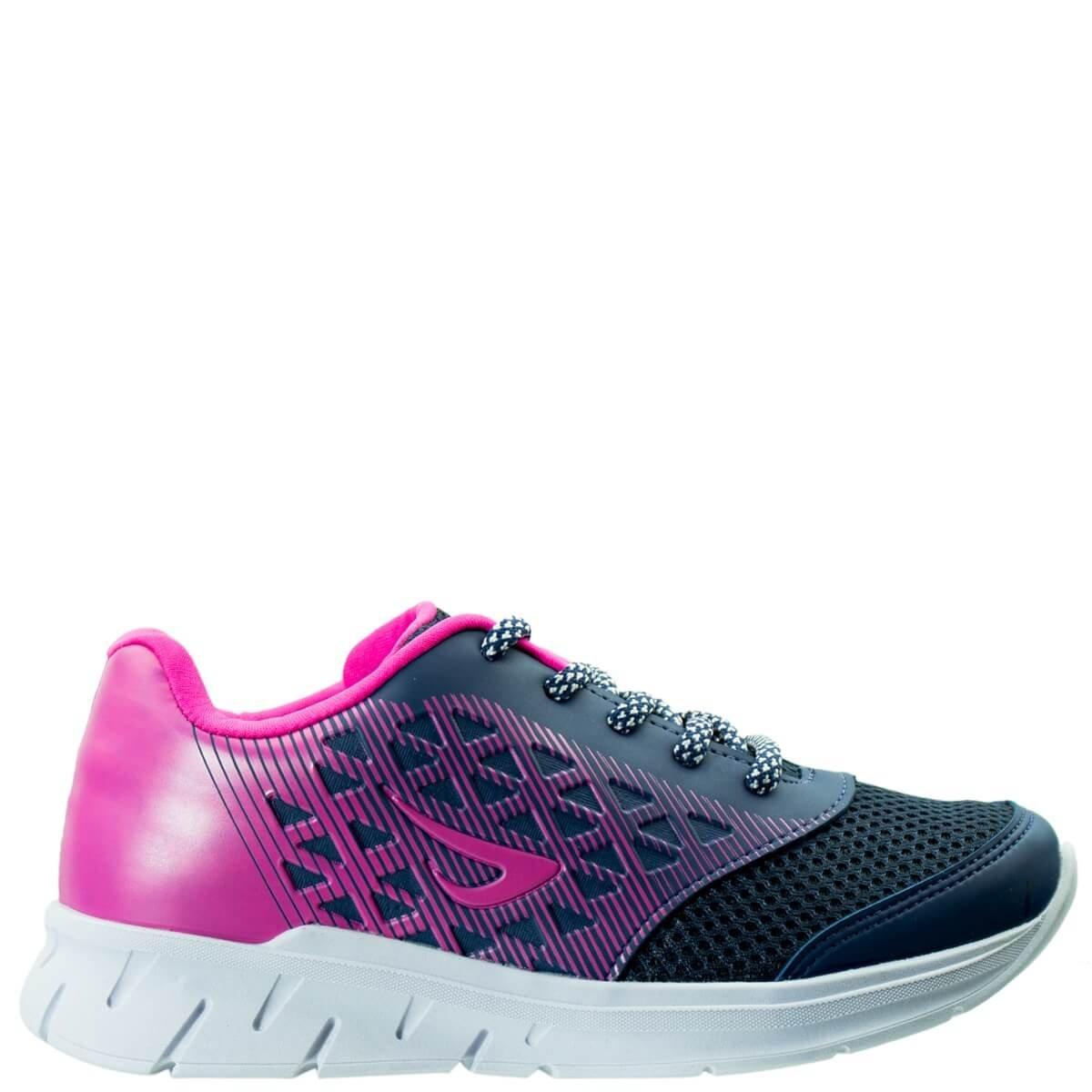 3f5e586d39 Bizz Store - Tênis Infantil Menina Ortopé Jogging Sport Marinho