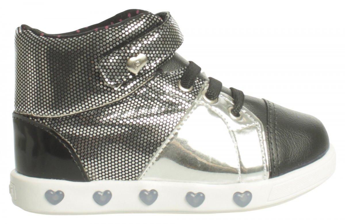 303004d26 Bizz Store - Tênis Com Luzinha Infantil Pampili Sneaker Metalizado