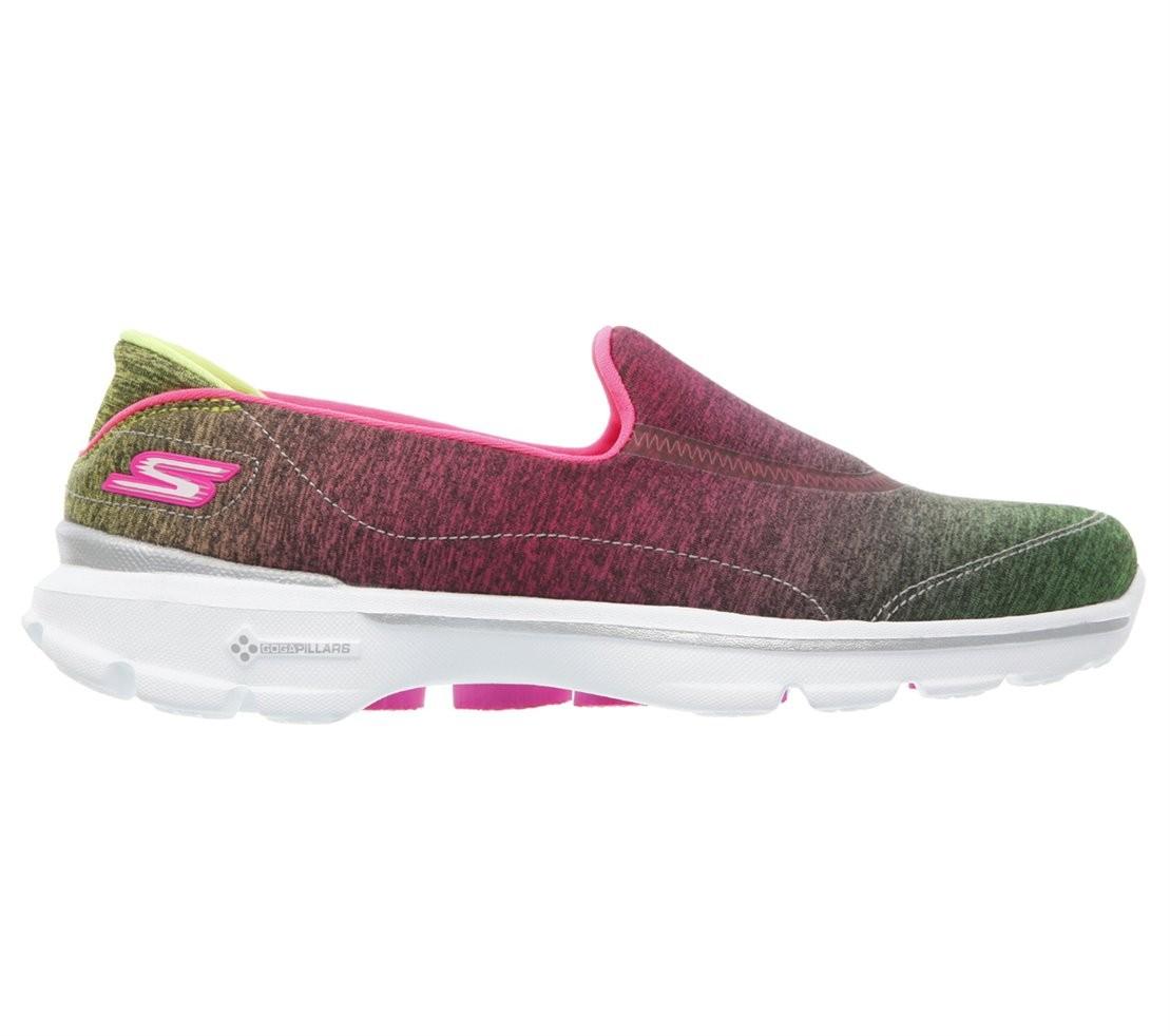 Bizz Store - Tênis Feminino Skechers Blpk Go Walk Aura 13993 59c5ac82b49b9