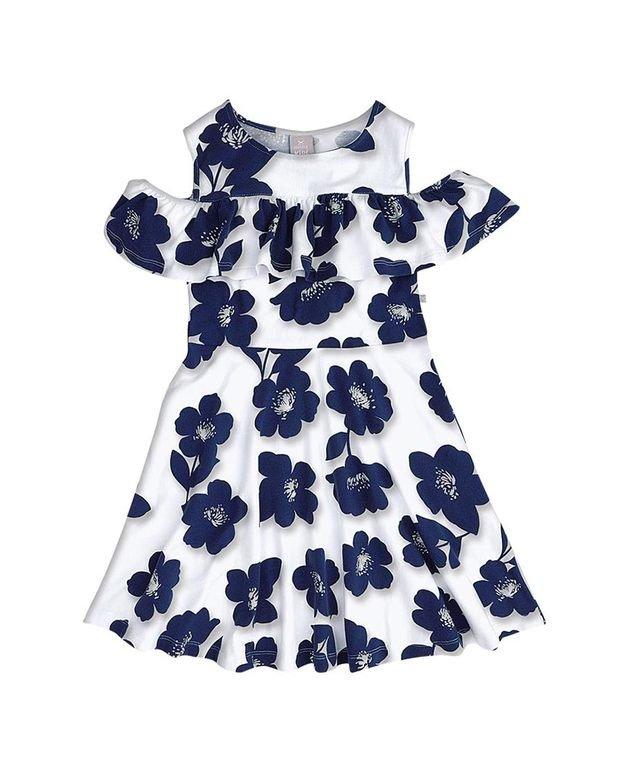 6bc9f5d3a Bizz Store - Vestido Infantil Hering Kids Floral Com Babados
