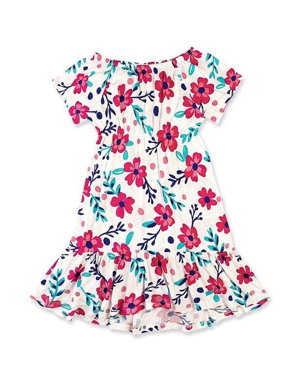 Bizz Store - Vestido Infantil Feminino Hering Kids Floral 799c72deba0c9