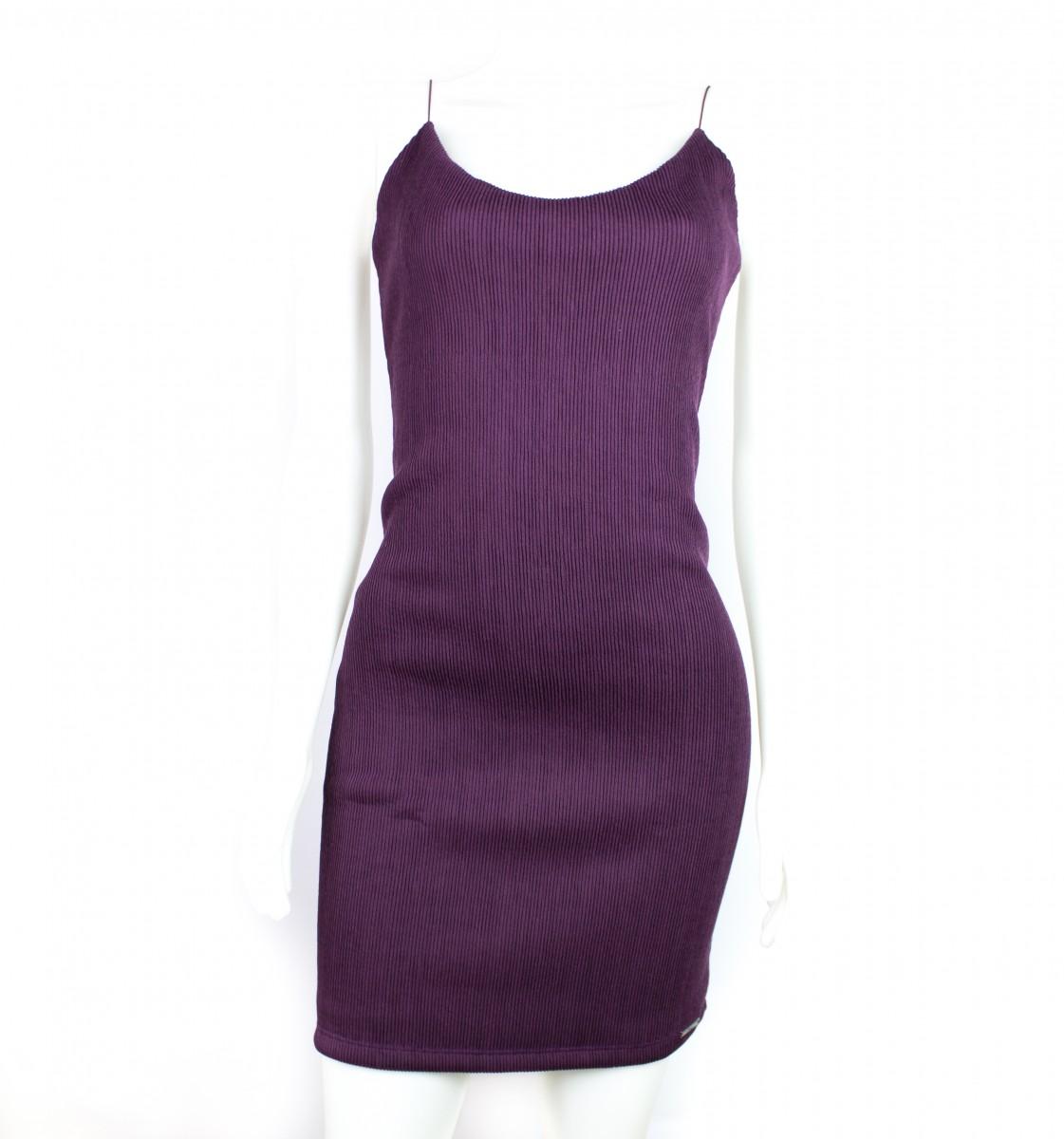 Bizz Store - Vestido Feminino Osmoze Curto Com Alças Preto Roxo d2d4877dcf