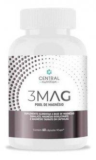 Imagem - 3MAG POOL DE MAGNESIO 60caps - CENTRAL NUTRITION