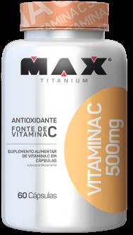 Imagem - Vitamina C 500mg 60CAPS - MAX TITANIUM - 004896