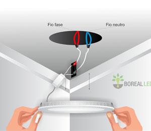 Imagem - Como instalar luminária de embutir LED em forro de gesso
