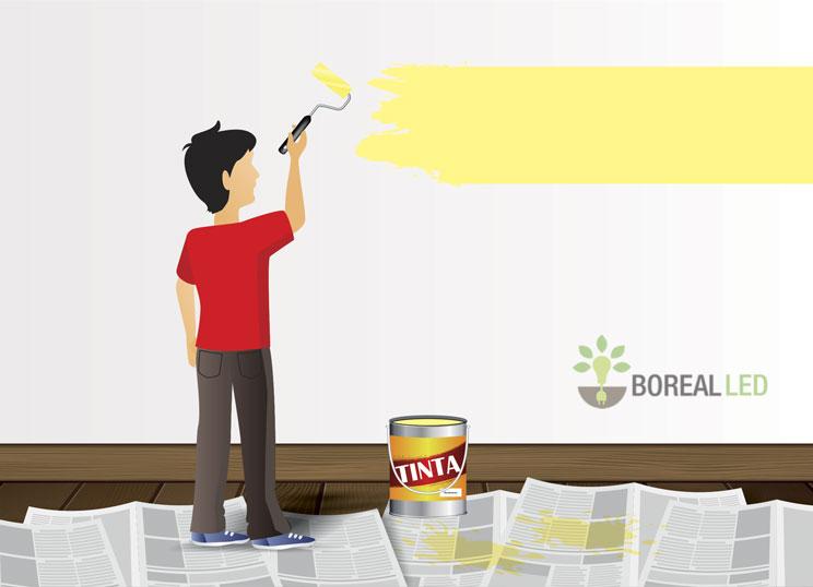 Como pintar as paredes de casa