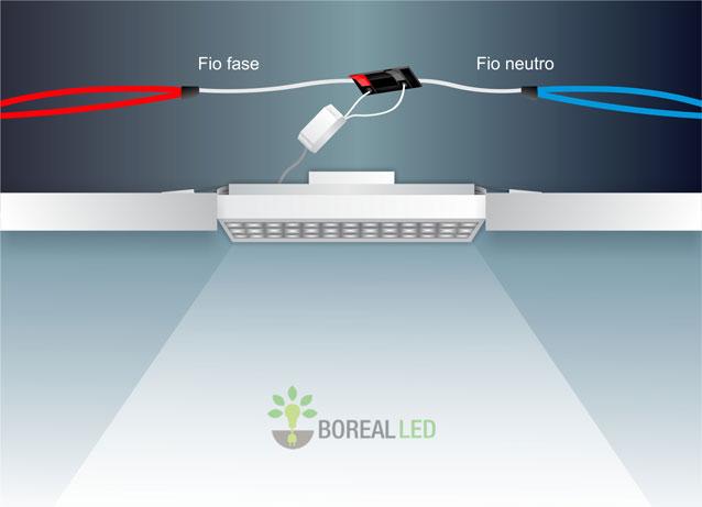 Instalar luminária de embutir em forro modular