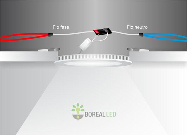 Como instalar luminária de embutir LED em forro de gesso