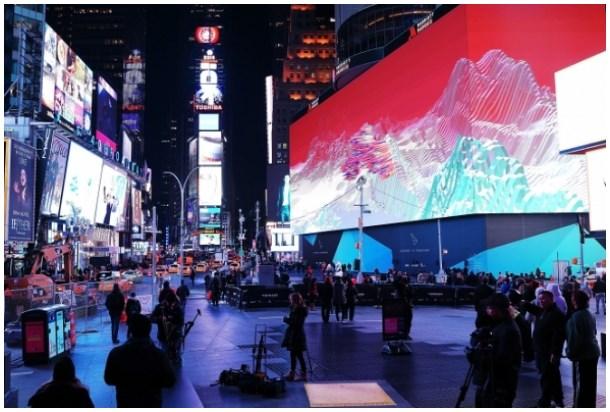 O maior e mais caro telão do mundo: o grande painel de LED da Times Square