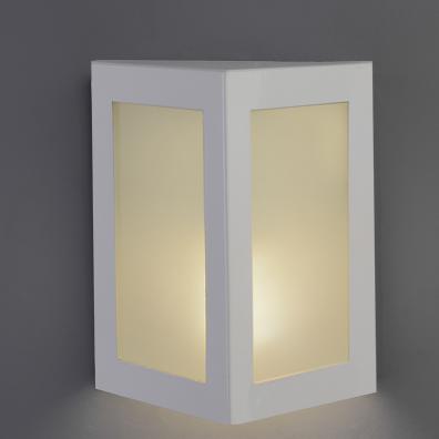 Arandela Alumínio Triangular Pequena P/ 1 Lâmpada E27 Ideal Iluminação 283