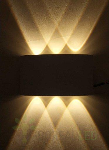 Arandela Efeito 6 Fachos Branca IP67 Externo Branco Quente