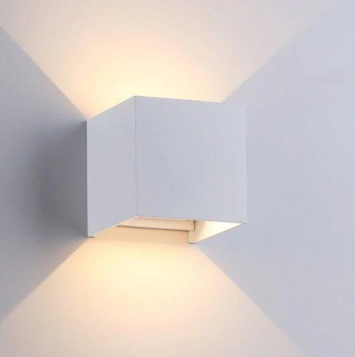 Arandela LED 6W Quadrada IP44 Branco Quente