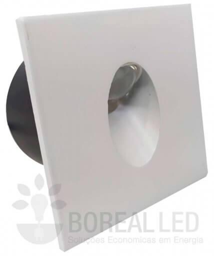 Balizador de Embutir Escada Parede 3W LED IP20 Biv 3000K Branco Quente