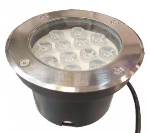 Balizador Embutir Solo Chão 12W LED IP65 Biv 3000K Branco Quente