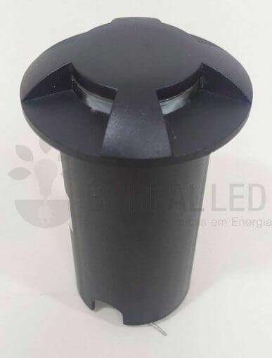 Balizador Embutir Solo Chão 1W LED IP67 3000K Biv Branco Quente