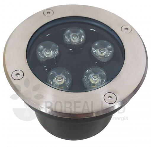 Balizador Embutir Solo Chão 5W LED Biv Branco Quente
