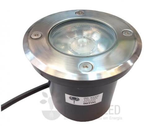Balizador Embutir Solo Chão 9W LED IP67 Biv 3000K Branco Quente