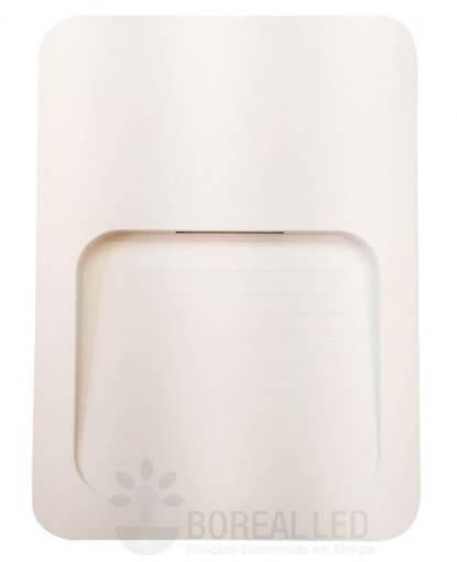 Balizador LED 2W Sobrepor Caixa 4X2 Externo IP65 Branco Quente Bivolt